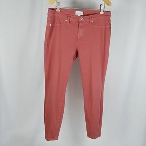 Dusty Rose Lila Ryan stretch, ankle jeans